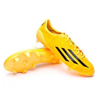 Bota  adidas adizero F50 TRX FG Messi Solar gold-Negra
