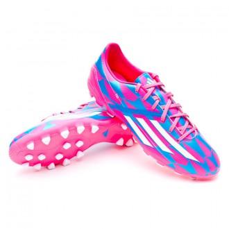 Bota  adidas F10 TRX AG Solar pink-Blanca-Solar blue