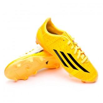 Bota  adidas Jr F10 TRX FG Messi Solar gold-Negra