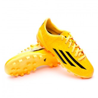 Bota  adidas Jr F10 TRX AG Messi Solar gold-Negra