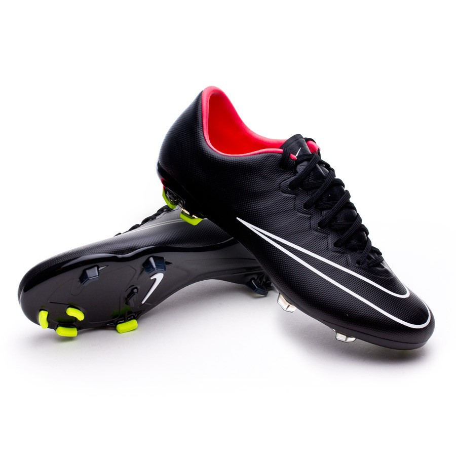 boot nike jr mercurial vapor x fg black hyper punch volt. Black Bedroom Furniture Sets. Home Design Ideas