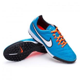 Chuteira  Nike Tiempo Legacy Turf Neo turquoise-White-Hyper crimson