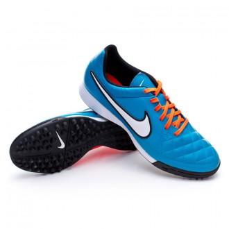 Chuteira  Nike Tiempo Genio Turf Neo turquoise-White-Hyper crimson