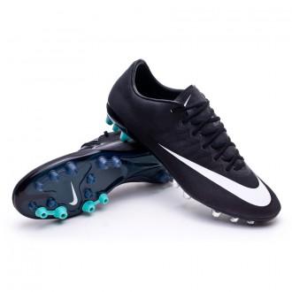 Bota  Nike Mercurial Vapor X CR AG ACC Negra-Blanca-Hyper turquoise