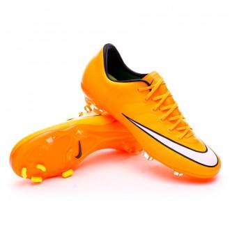 Chuteira  Nike Jr Mercurial Vapor X FG Laser orange-White-Volt