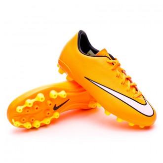 Chuteira  Nike Jr Mercurial Victory V AG Laser orange-White-Volt