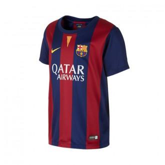 T-Shirt  Nike Jr Jugador FC Barcelona Home 2014-2015 Blue-Red