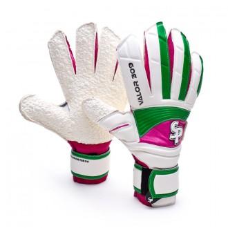 Glove  Soloporteros Valor 309 Hardground White-Green-Fuchsia