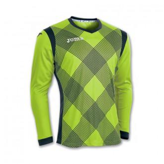 T-Shirt  Joma m/l Derby Verde flúor-Black