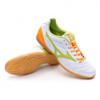 Chaussure  Mizuno Sala Club 2 IN White-Orange-Lime