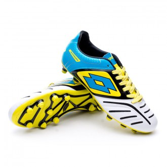 Bota  Lotto Stadio Potenza V 700 FG White-Fluor blue
