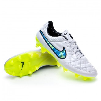 Chuteira  Nike Tiempo Legend V FG ACC White-Volt-Soar-Black