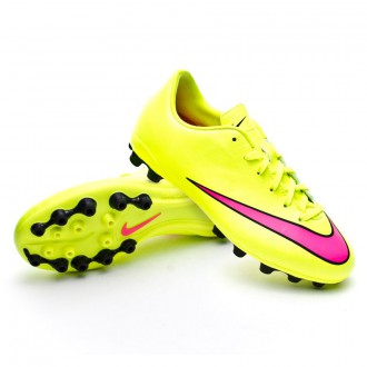 Chuteira  Nike Jr Mercurial Victory V AG Volt-Hyper pink-Black