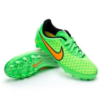 Chuteira  Nike Jr Magista Onda AG Poison green-Total orange-Black
