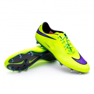 Chuteira  Nike Hypervenom Phatal FG Volt-Persian Violet-Black