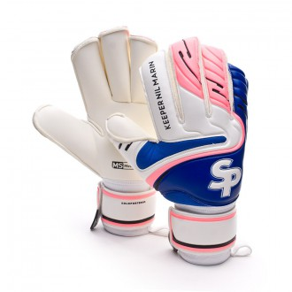 Guante  Soloporteros Keeper NIl Marin CHR Protect Blanco-Rosa-Azul