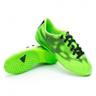 Chaussure  adidas Jr F5 IN Solar green-White-Black