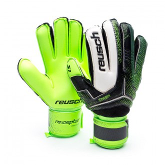 Luvas  Reusch Receptor Prime S1 Finger Support Verde-Preto