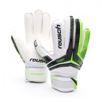 Glove  Reusch Jr Receptor SG Finger Support White-Black