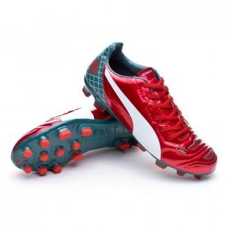 Chaussure  Puma Jr evoPOWER 4.2 Graphic AG High risk red-White-Sea pine