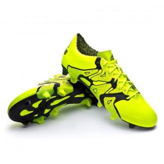 Bota  adidas X 15.1 FG/AG Piel Solar yellow-Core Black-Frozen yellow