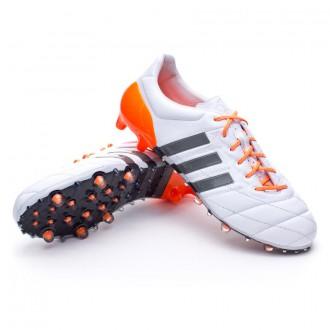 Bota  adidas Ace 15.1 FG/AG Mujer Piel White-Iron metallic-Solar orange