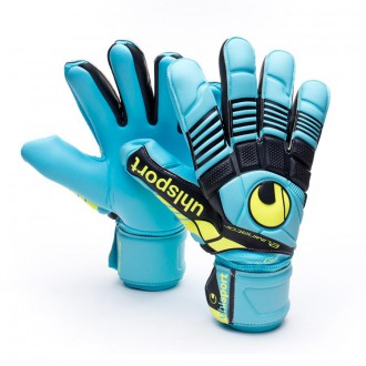 Guante  Uhlsport Eliminator Absolutgrip HN Cyan-Amarillo