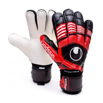 Guante  Uhlsport Eliminator Supersoft Bionik Negro-Rojo