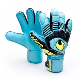 Guante  Uhlsport Eliminator Supersoft Cyan-Amarillo