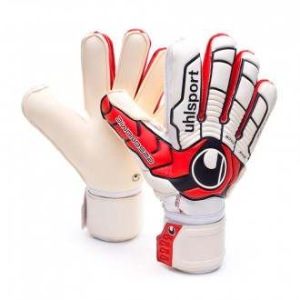 Guante  Uhlsport Ergonomic Absolutgrip Blanco-Rojo