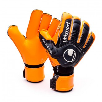 Guante  Uhlsport Ergonomic Supersoft Rollfinger Naranja-Negro