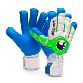 Guante  Uhlsport Ergonomic360 Aquasoft Blanco-Verde-Azul