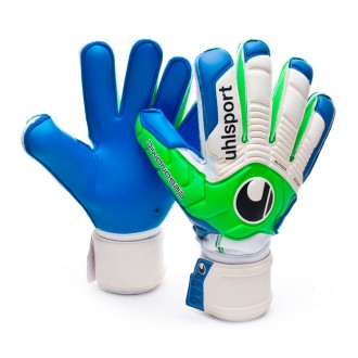 Guante  Uhlsport Ergonomic Aquasoft Blanco-Verde-Azul