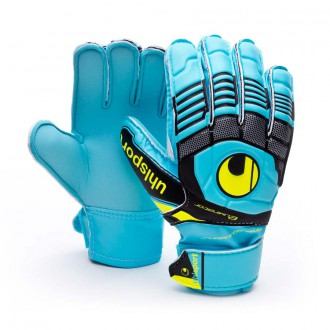 Guante  Uhlsport Jr Eliminator Soft Supporframe Cyan-Amarillo