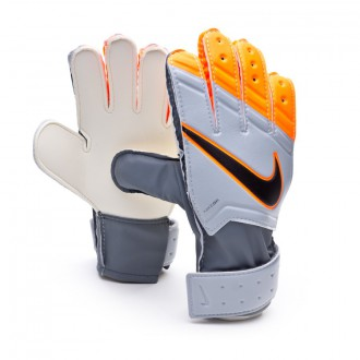 Luvas  Nike Jr Match Grey-Total orange-Black