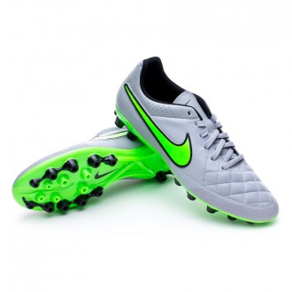 Chuteira  Nike Tiempo Genio Leather AG-R Wolf grey-Green strike-Black