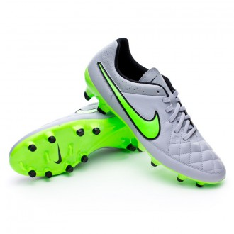 Chuteira  Nike Tiempo Genio Leather FG Wolf grey-Green strike-Black