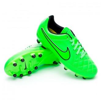 Chuteira  Nike Jr Tiempo Genio Leather FG Green strike-Black