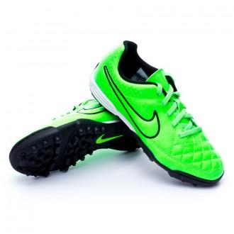 Bota  Nike Jr Tiempo Rio II Turf Green strike-Black