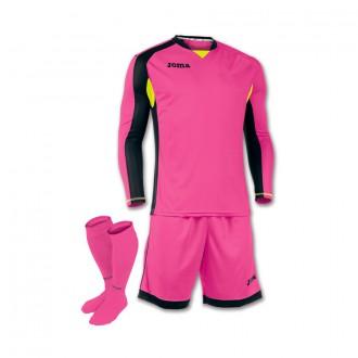 Goalkeeper set  Joma Zamora m/l Fuchsia-Negro