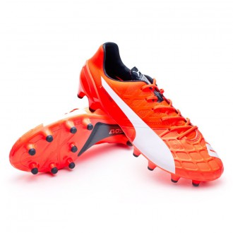 Boot  Puma evoSPEED 1.4 FG Lava blast-White-Total eclipse