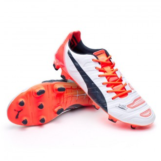 Boot  Puma evoPOWER 1.2 FG White-Total eclipse-Lava blast