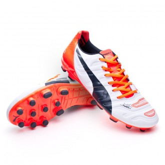 Boot  Puma evoPOWER 2.2 AG White-Total eclipse-Lava blast