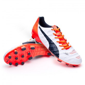 Boot  Puma evoPOWER 3.2 AG White-Total eclipse-Lava blast