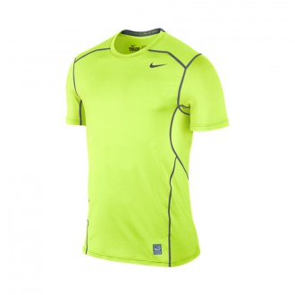 Camiseta  Nike Pro Combat Hypercool Fitted Short Sleeve Top Volt-Cool grey