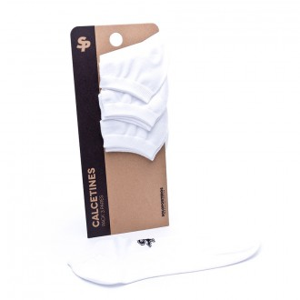 Pack  Soloporteros 3 Calcetines Invisible Blancos