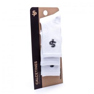 Pack  Soloporteros 3 Calcetines Media Caña Con Rizo Blancos