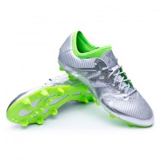 Bota  adidas X 15.1 FG Eskolaite Silver metallic-Solar green