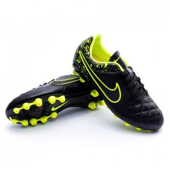 Chuteira  Nike Jr Tiempo Genio Piel AG Black-Volt