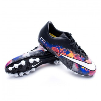 Chuteira  Nike Jr Mercurial Victory V CR AG Black-White-Total crimson-Purple